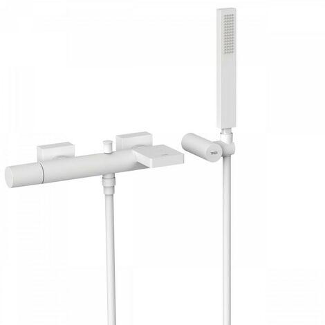 Mitigeur bain avec cascade. Douchette à main anticalcaire avec support orientable et flexible. - TRES 21117001BM