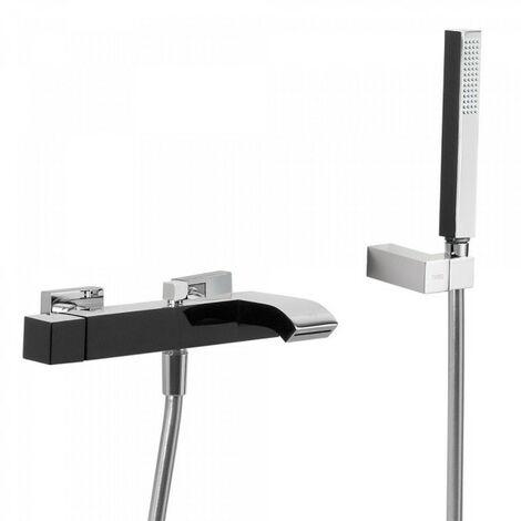 Mitigeur bain avec cascade Noir/Chromé CUADRO COLORS - TRES 60717002