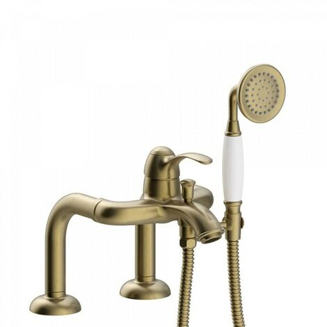 Mitigeur bain d'étagère Douchette à main anticalcaire. Flexible double agrafage - TRES 24219401LV
