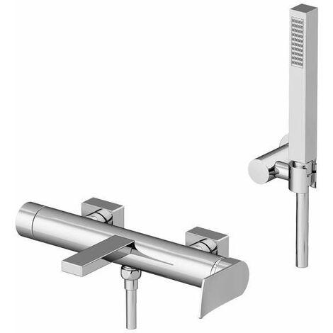 Mitigeur bain-douche avec set de douche Gattoni Soffio 8100 | Chromé