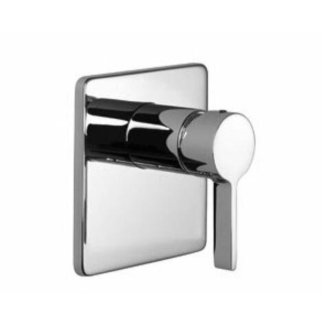Mitigeur bain-douche Dornbracht LULU xStream monocommande de baignoire et de douche sans transformation, pour montage encastré, kit montage final, 36015710, Coloris: Platine Mat - 36015710-06