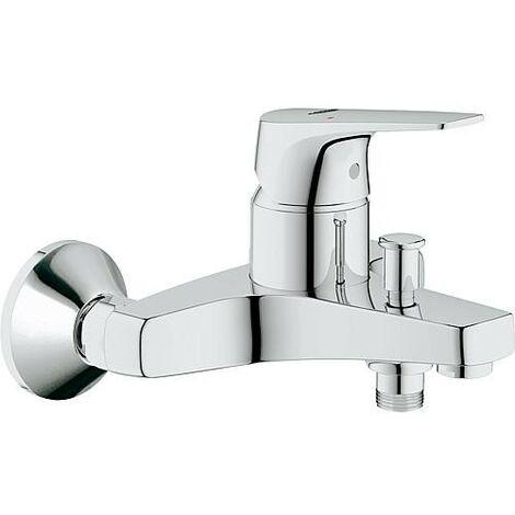 Mitigeur bain/douche Grohe Bauflow chromé, sécurisé contre le reflux d'eau