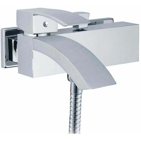Mitigeur bain/douche Marina avec effet cascade + douchette + flexible + support