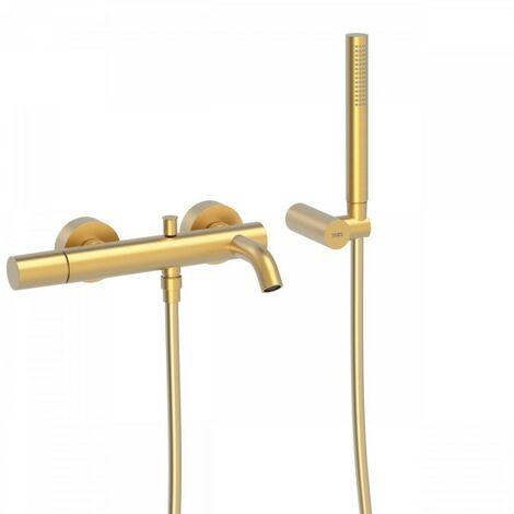 Mitigeur bain Douchette à main anticalcaire avec support orientable et flexible - TRES 26117001OM