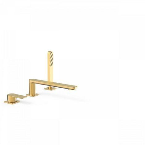 Mitigeur bain sur gorge avec douchette anticalcaire. · Débit : 3 bar – 16 l/min - TRES 20016201OM