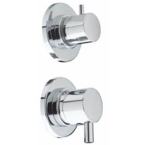 Mitigeur chromé pour cabine de douche 3 fonctions