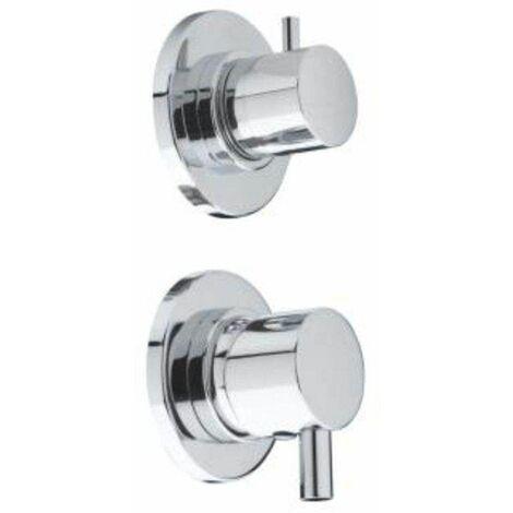 Mitigeur chromé pour cabine de douche 5 fonctions