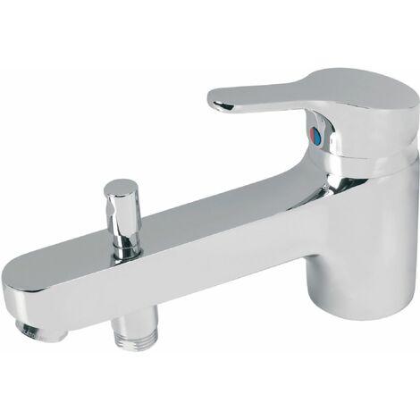 Mitigeur de bain-douche SLIMLINE II monotrou avec poignée en métal, chromé réf. B8589AA