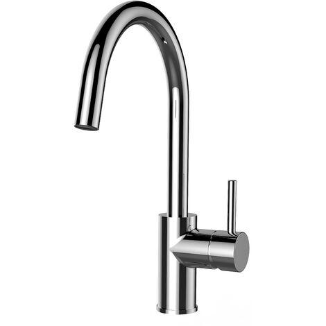 "main image of ""Mitigeur de cuisine chrome robinet bec cygne pivotant 360 VIZIO"""