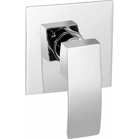 Mitigeur de douche encastré Enver, corps de montage inclus chromé, rosace 100x100 mm