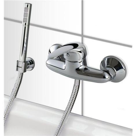 Mitigeur de douche mural Chrome Robinet salle de bain