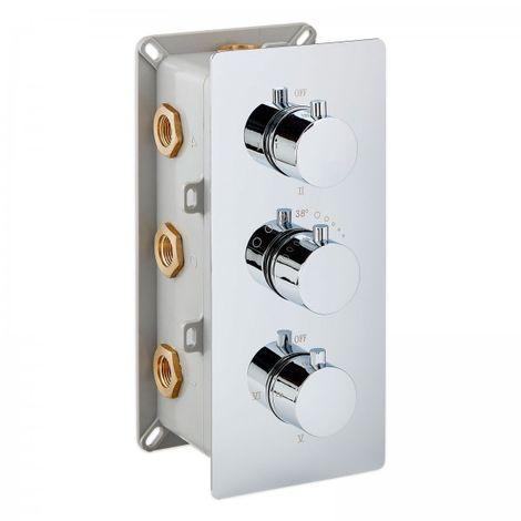 Mitigeur de douche thermostatique à encastrer avec inverseur 6 voies / 6 fonctions UP11-01