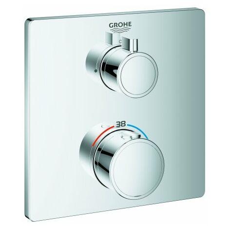 Mitigeur de douche thermostatique Grohe Grohtherm pour Rapido SmartBox, 1 consommateur, chrome 24078000 - 24078000