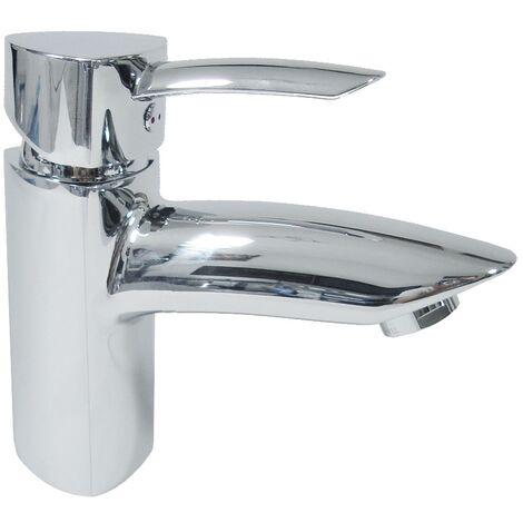 Mitigeur de lavabo bas en laiton chrome Robinet avec vidage pour vasque