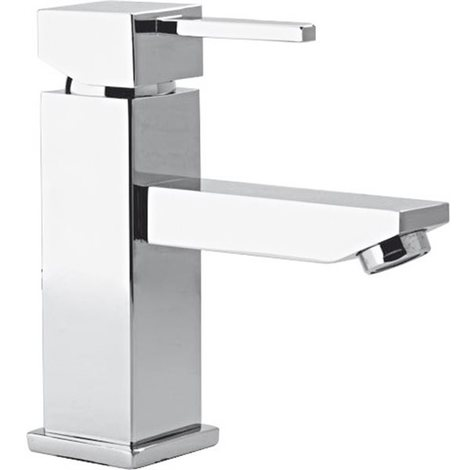 Mitigeur de lavabo design moderne Robinet de vasque caree chrome