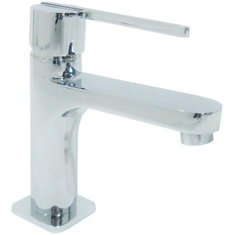 Mitigeur de lavabo en laiton chrome Robinet avec vidage pour vasque