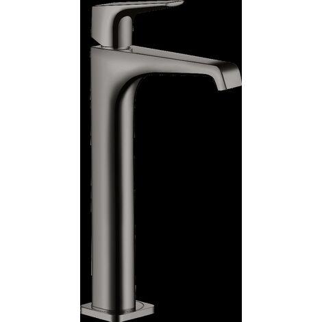 Mitigeur de lavabo HANSGROHE AXOR Citterio E surélevé avec poignée à levier pour vasque libre, bonde à écoulement libre noir chromé poli - 36113330