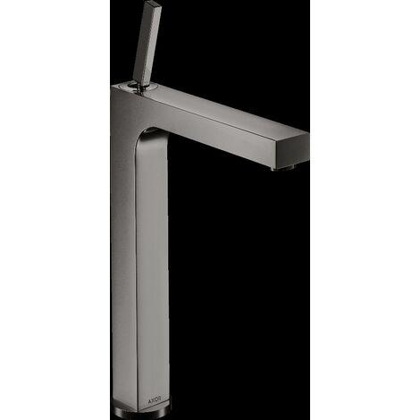 Mitigeur de lavabo HANSGROHE AXOR Citterio surélevé pour vasque libre, avec tirette et vidage noir chromé poli - 39020330