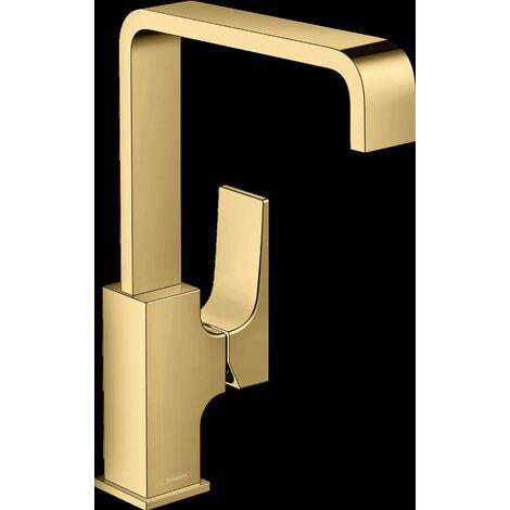 Mitigeur de lavabo HANSGROHE Metropol poignée manette, bonde Push-Open aspect doré poli - 32511990