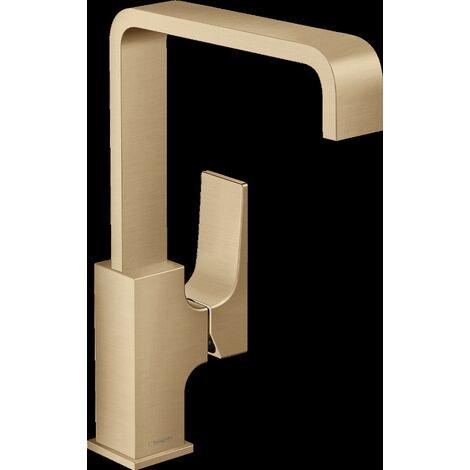 Mitigeur de lavabo HANSGROHE Metropol poignée manette, bonde Push-Open bronze brossé - 32511140