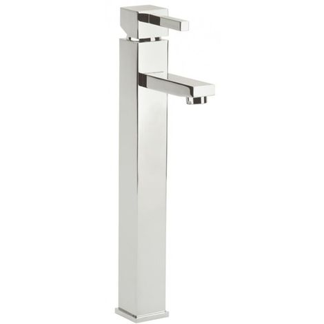 Mitigeur de lavabo haut en laiton chrome Robinet Cubique pour vasque Design