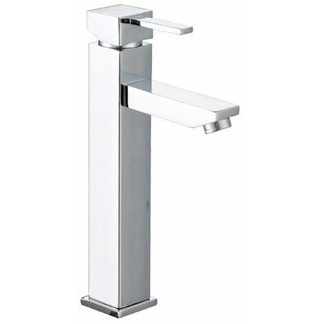 Mitigeur de lavabo haut Robinet pour vasque design en laiton chrome
