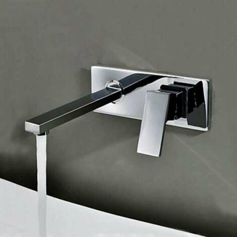 Mitigeur de lavabo mural encastré , design en laiton - Aqua ...