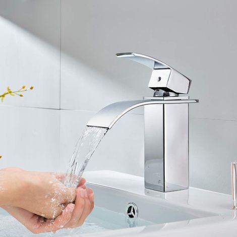 Mitigeur de lavabo Robinet Vasque Brillant en Laiton Salle de Bain WC