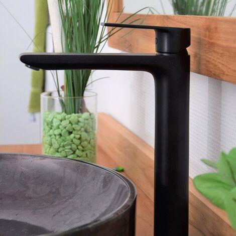 Mitigeur de lavabo vasque noir, Agora - Noir