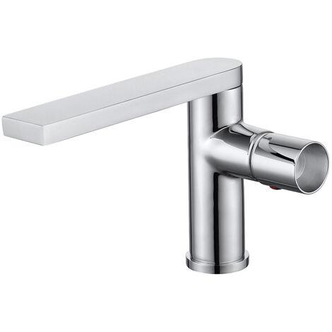 Mitigeur design lavabo chromé en laiton