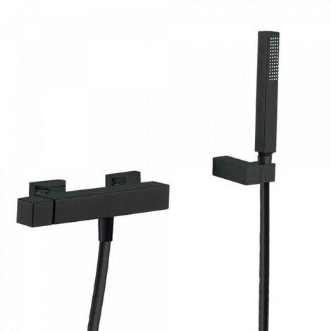 Mitigeur douche Douchette à main anticalcaire avec support orientable et flexible. - TRES 00716703NM