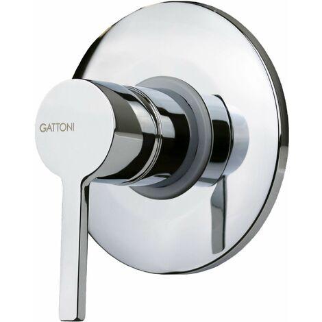 Mitigeur douche encastrable 1 sortie plaque laiton Gattoni Eden 5003051C0 | Chromé - 1 sortie