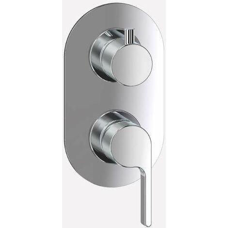 Mitigeur douche encastré avec inverseur à 2 sorties Webert Doremi DR860101
