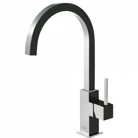 Mitigeur evier bec 22x22 mm Noir/Chrome TRES COLOR - TRES 630497