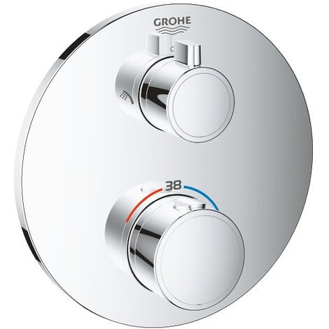 Mitigeur GROHE thermostatique douche ronde GROHTHERM 2 sorties avec inverseur Ref. 24076000