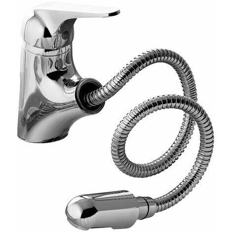 Mitigeur lavabo avec douche extractible Gattoni H2omix 6007065C0 | Chromé