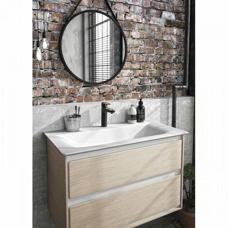 Mitigeur lavabo avec tirette et vidage bonde métal - TYRIA - Noir/Chrome - Ideal Standard