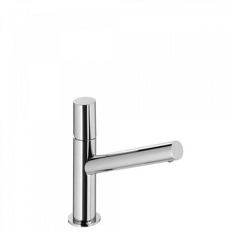 Mitigeur lavabo bec long. Vidage automatique. - TRES 06120301D