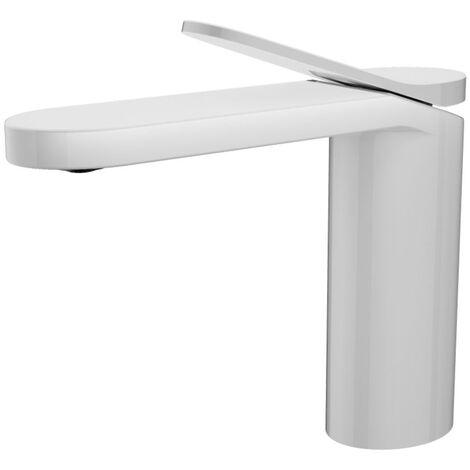 Mitigeur lavabo blanc en laiton pour lavabo