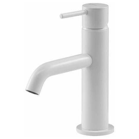 Mitigeur lavabo blanc mat Gattoni Easy 2382/23BO | Blanc mat - Sans vidage