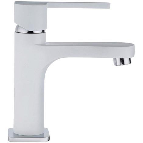 Mitigeur lavabo Blanc WOSSA Cartouche céramique C1 - WOS15W