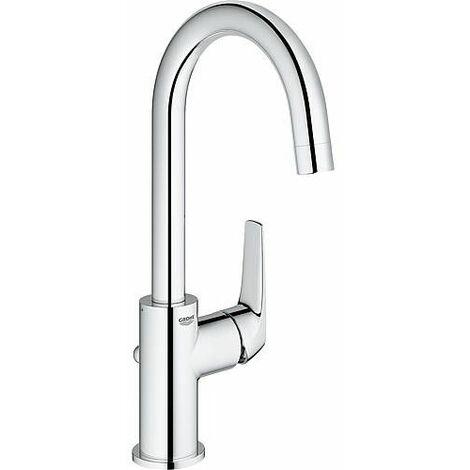 Mitigeur lavabo Grohe Bauflow chromé, L-Size,