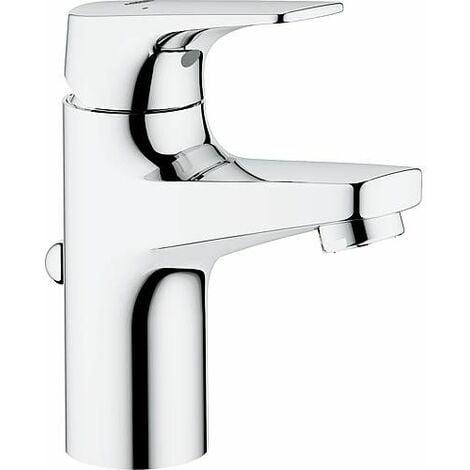 Mitigeur lavabo Grohe Bauflow chromé, S-Size, avec limiteur de température