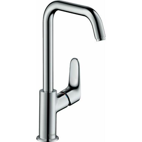 Mitigeur lavabo HANSGROHE Focus 240 bec haut orientable 120° chromé
