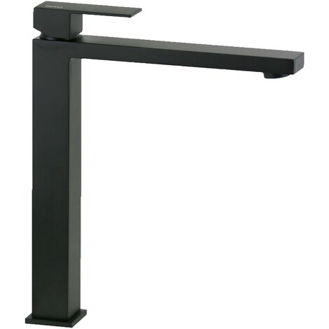 Mitigeur lavabo haut noir mat modèle carré Ponsi Italia R BTITRKLAF5   Noir mat - Sans vidage