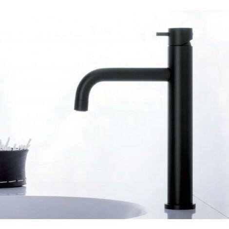 Mitigeur lavabo haut Noir Mat Triverde - Cristina Ondyna TV22213