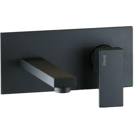 Mitigeur lavabo mural noir mat Ponsi Italia R BTITRKLA19 | Noir mat