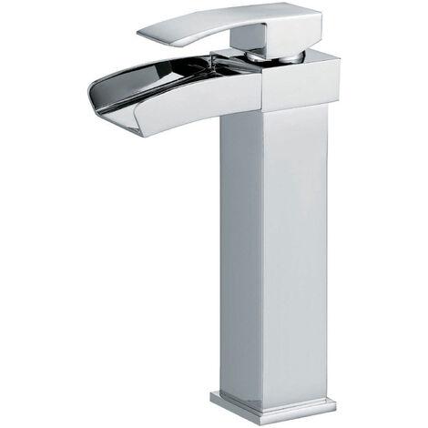 Mitigeur lave main pour vasque finition cascade chromé