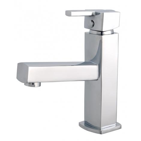 Mitigeur lave mains forme carree Scoop - eau chaude/froide