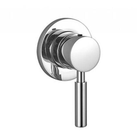 Mitigeur monocommande de douche à encastrer Dornbracht Meta 02 avec rosette, kit de montage final, 36008625, Coloris: Platine Mat - 36008625-06
